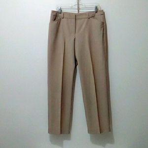 Worthington tan straight leg dress pants size 12p